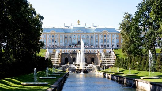 "Peterhof - One of several summer homes of Peter the Great (the ""Good Czar!"")"