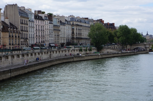 Looking down the lovely Seine from Pont Neuf.