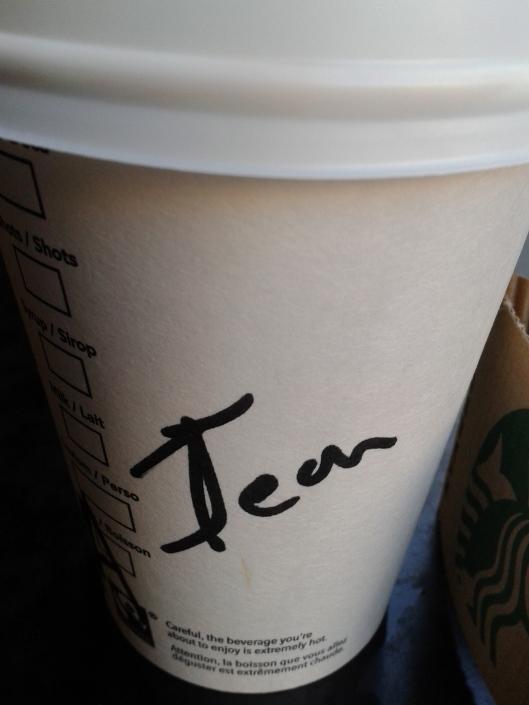 Bonus: I have a new Starbuck's name!!